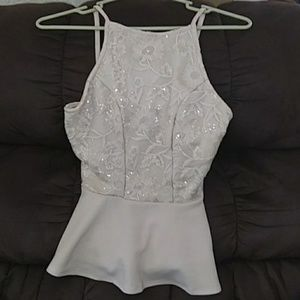 Charlotte Russe sexy sparkly top size M